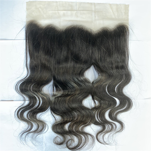 Raw brazilian ear to ear full cuticle aligned virgin hair silk base 13*6 transparent lace frontal