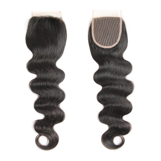 Body Wave Swiss Lace Closure Chinese Silky Human Hair Of 4*4 Closure