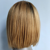 Indian remy human hair 1b/27 short bob 13*4 front lace wig