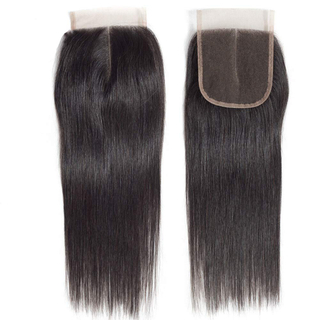 Feibin Brazilian straight hair band 10 inches untreated 100% human hair without accessories 4x4 straight hair band natural color